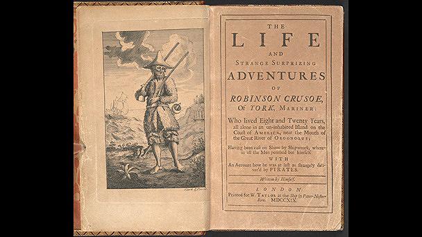"""Hoxe cúmprense tres séculos dende que o inglés Daniel Defoe publicara a súa logo popular novela """"Robinson Crusoe"""""""