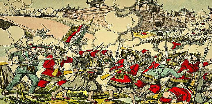 A revolta contra as embaixadas estranxeiras, coñecida na literatura como rebelión dos bóxers, estalou en China en 1900