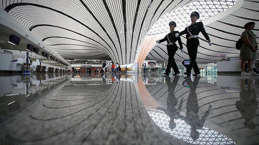 O aeroporto máis grande do mundo está en China Ten forma de estrela e está deseñado para 100 millóns de pasaxeiros