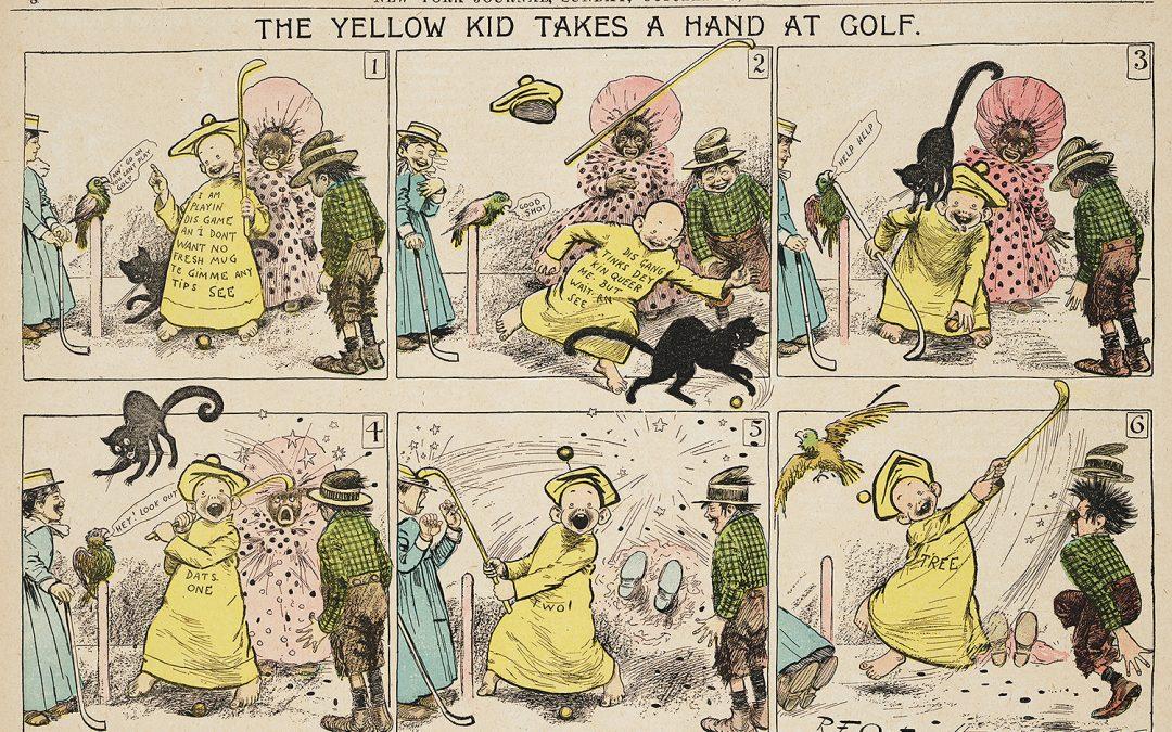 La primera sección fija de una tira cómica en un periódico apareció en el San Francisco Chronicle, en el año 1907
