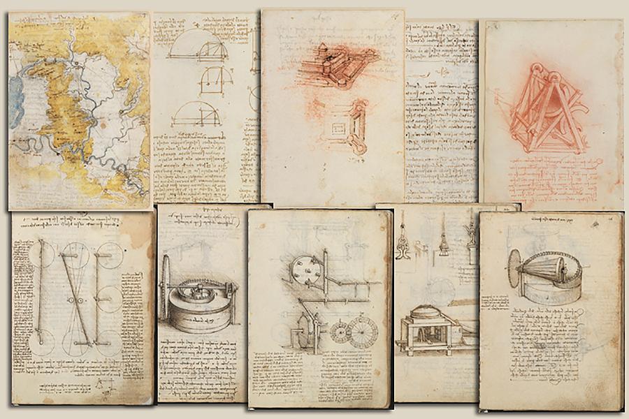 La Biblioteca Nacional anunció en 1967 el hallazgo de unos manuscritos con textos y dibujos del artista total italiano Leonardo da Vinci