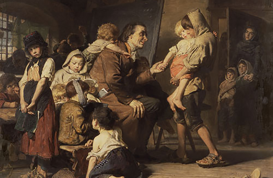 O que está considerado como un dos primeiros pedagogos da historia, o suízo Johan H. Pestalozzi, deixou de existir en 1827