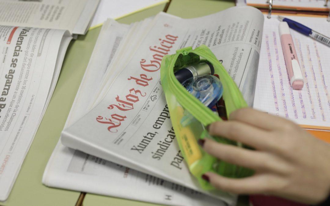 Periódico y asignaturas: un juego  de coincidencias ¿Por qué no comprobar si existen o no coincidencias de nombre entre los temas que se estudian en el programa escolar y las secciones que salen en el periódico?