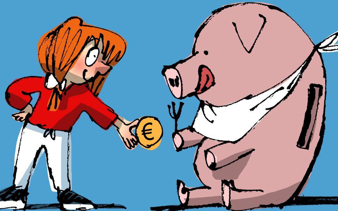 Sabes o que é unha conta corrente? Os bancos teñen ao servizo dos cidadáns unha especie de huchas que lles permiten gardar os seus aforros e, ademais, pagar as cousas que compren con máis facilidade