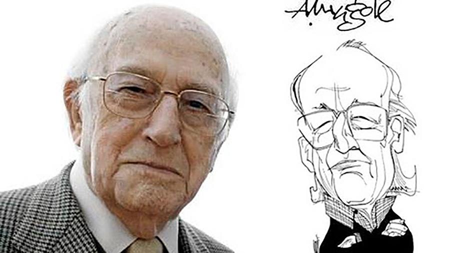 El humorista Antonio Mingote ingresó en la Real Academia Española de la Lengua en 1987