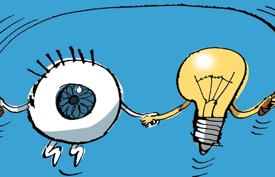 Como funcionan os teus ollos? Se te pos diante dun espello poderás comprobar de que xeito se adaptan os teus ollos á luz e á escuridade. Contámosche como facelo