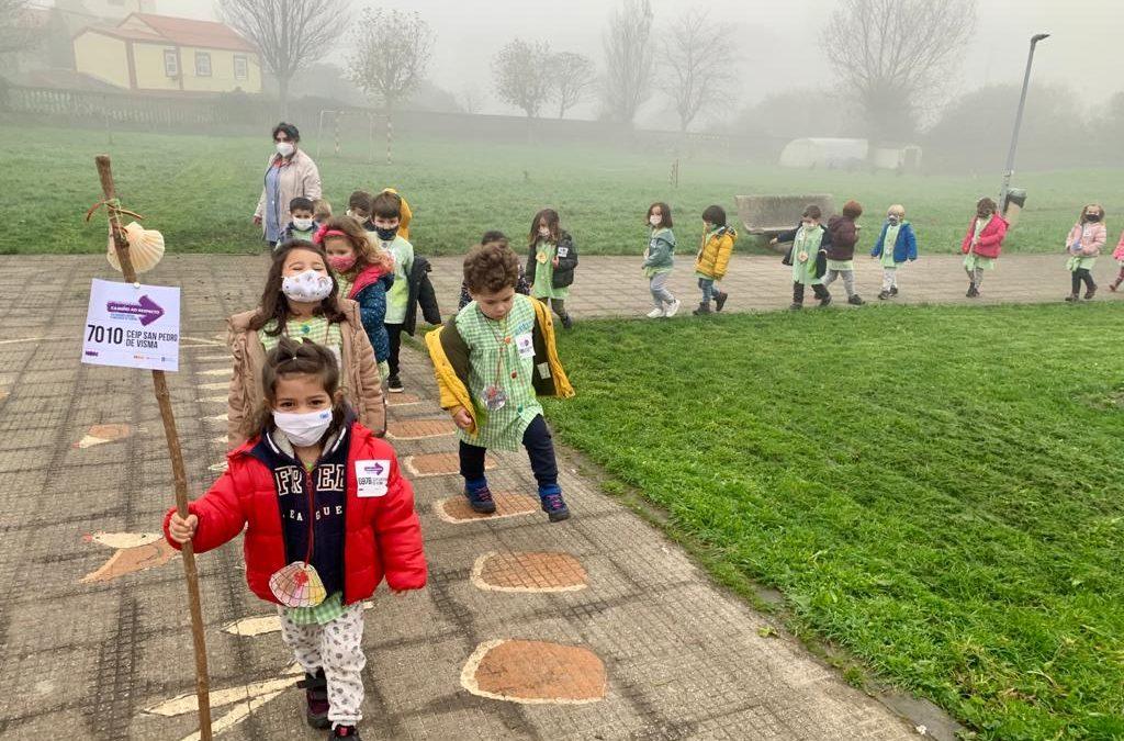 Intercambio de sementes e libros polo Camiño do Norte O CEIP San Pedro de Visma, da Coruña, desenvolve un proxecto físico e de interacción cultural con centros doutras localidades