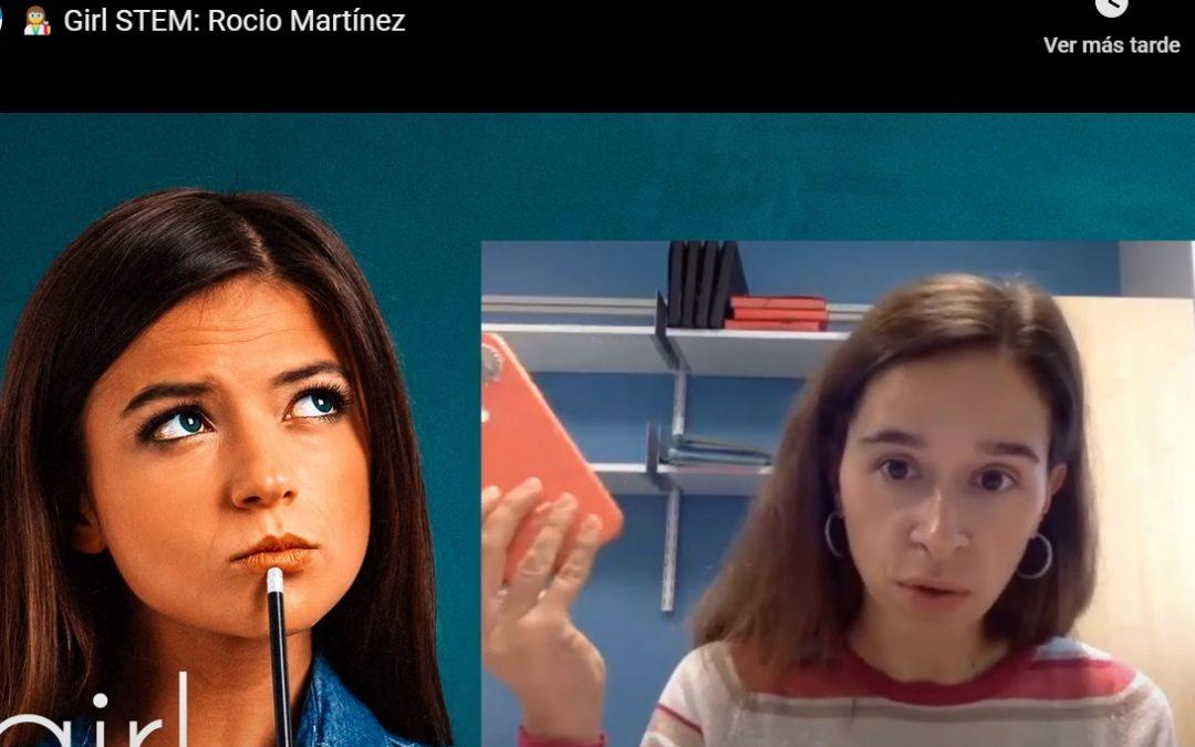 Unha das encargadas de traer os robots que loitan contra o covid O programa Girl STEM entrevista a Rocío Martínez