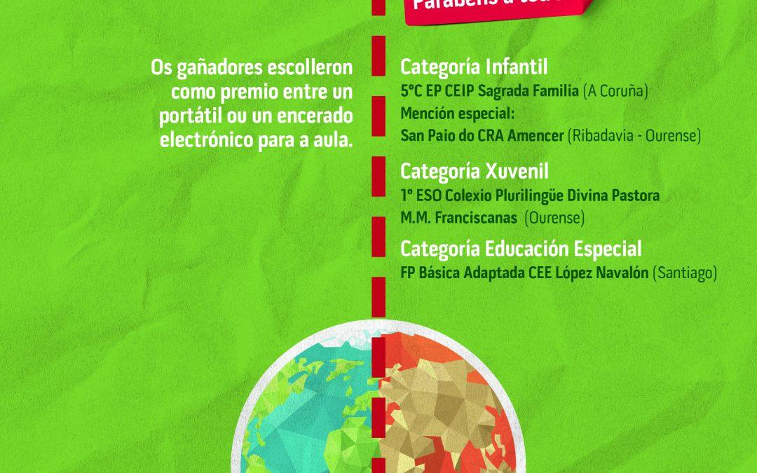 """Ampliado o prazo para participar no concurso """"21 días transformando o mundo con La Voz de Galicia e Viaqua"""" Os escolares interesados en participar teñen de prazo ata o 8 de xuño para presentar os seus novos traballos"""